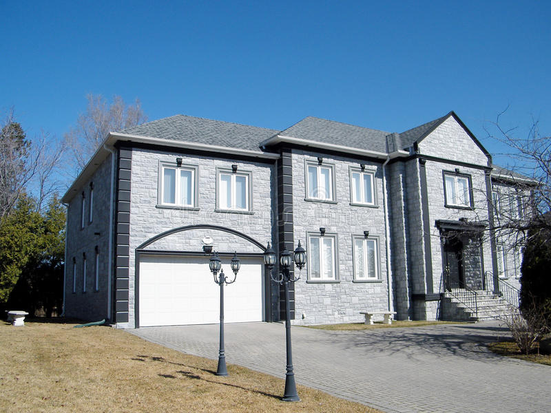 Thornhill gray house 2010. Gray house in Thornhill, Canada, March 16, 2010 stock photography