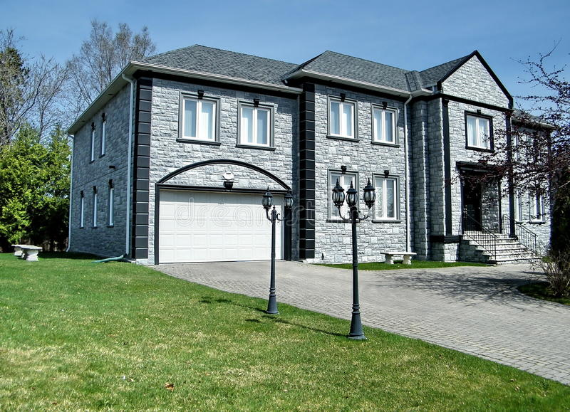 Thornhill Very nice grey house 2010 royalty free stock photo
