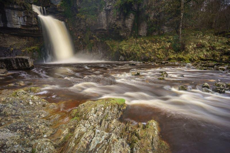 Thornton Force vattenfall i Yorkshire arkivfoto