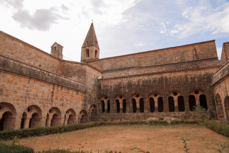 Thoronet Abbey from the Cistercian order in France stock photos