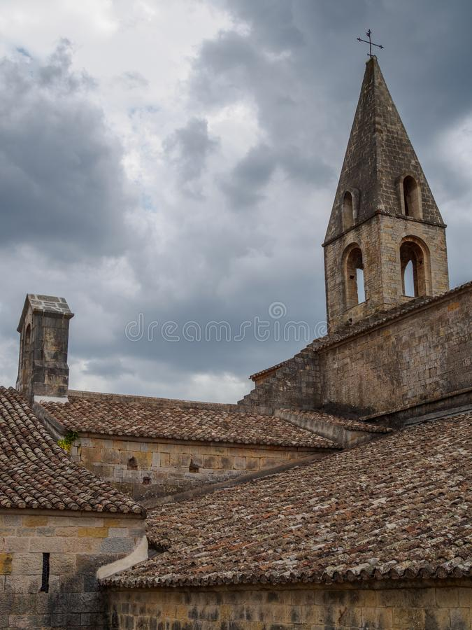 The Thoronet abbey in France. stock images