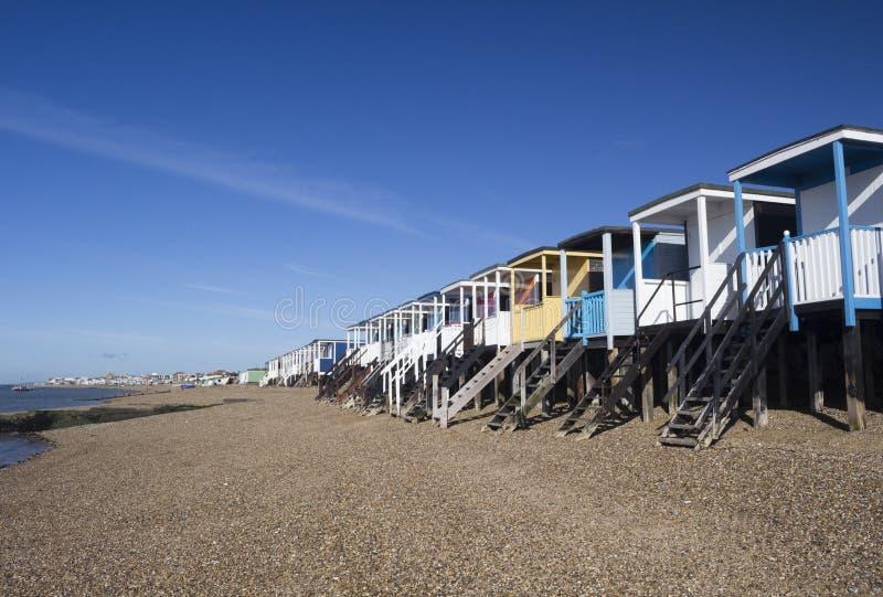 Thorpe Bay Beach, Essex, England stockbild