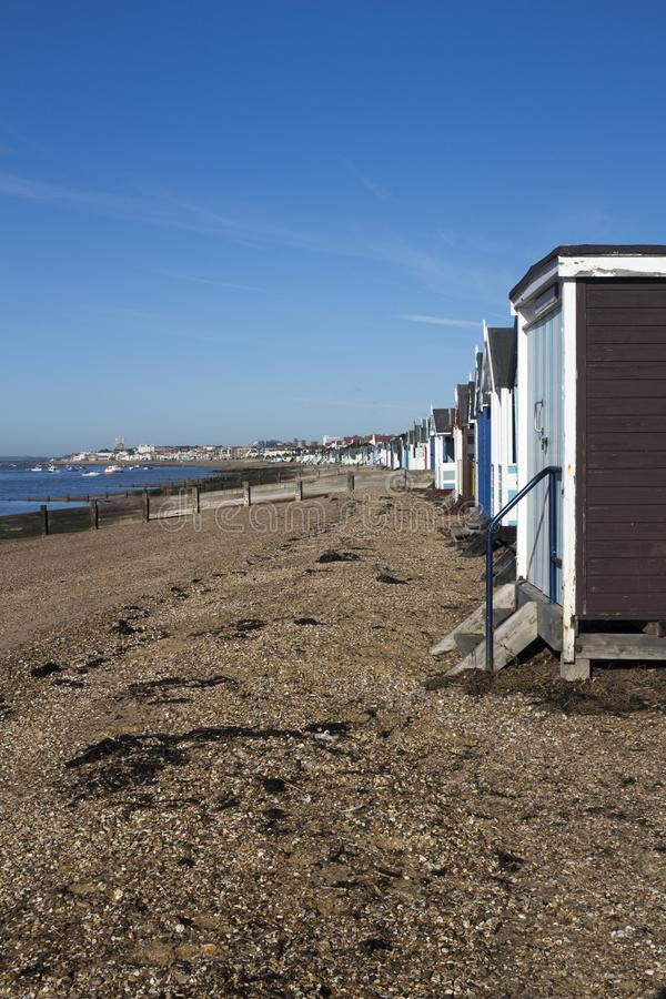 Thorpe Bay Beach, Essex, England stockfoto