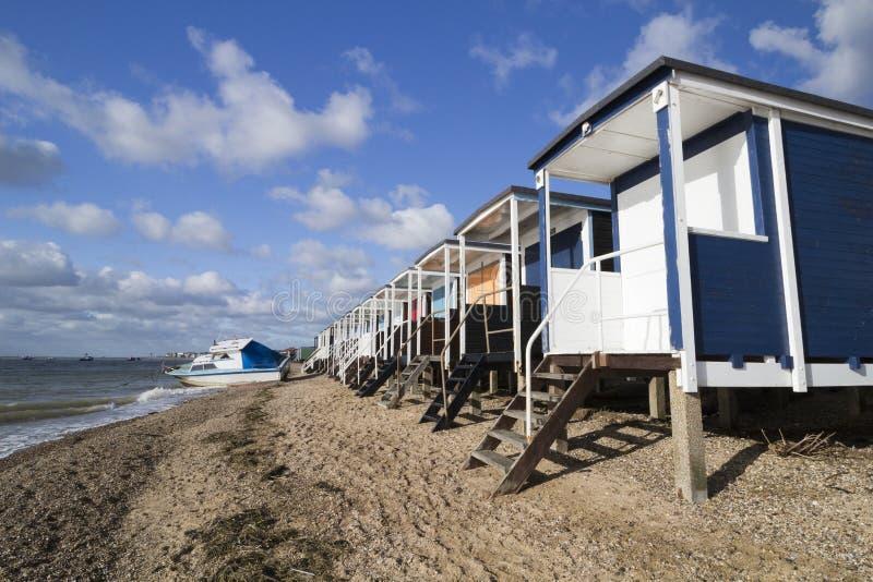 Thorpe Bay Beach, Essex, England lizenzfreie stockbilder