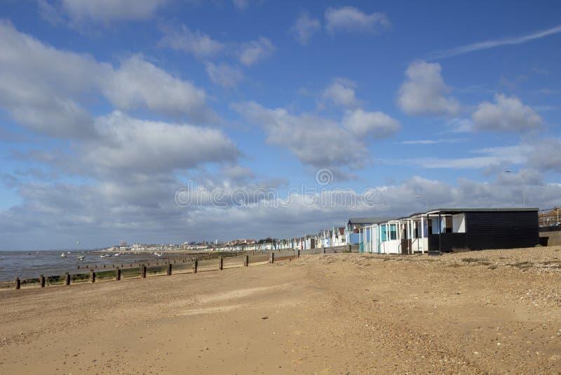 Thorpe Bay Beach, Essex, England lizenzfreies stockbild