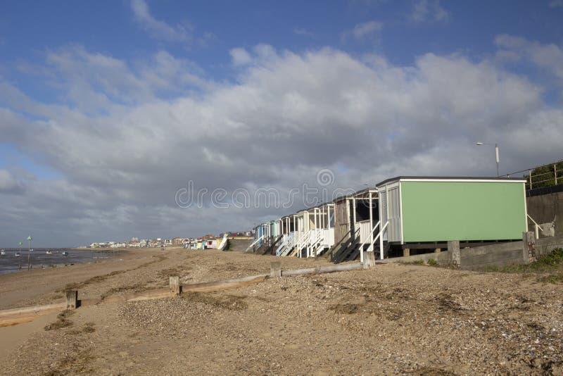 Thorpe Bay Beach, Essex, England lizenzfreie stockfotografie