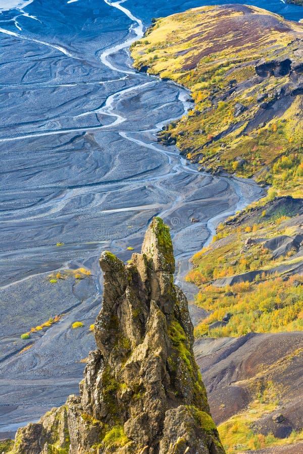 Thorsmork, Islândia do sul fotografia de stock royalty free
