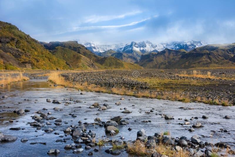 Thorsmork, Islândia do sul foto de stock