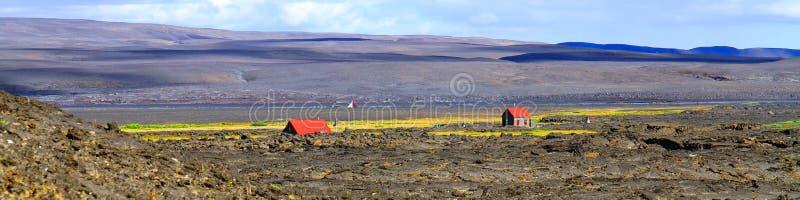 Thorsteinsskà ¡ li buda, Herdubreid, średniogórza, Iceland zdjęcie stock