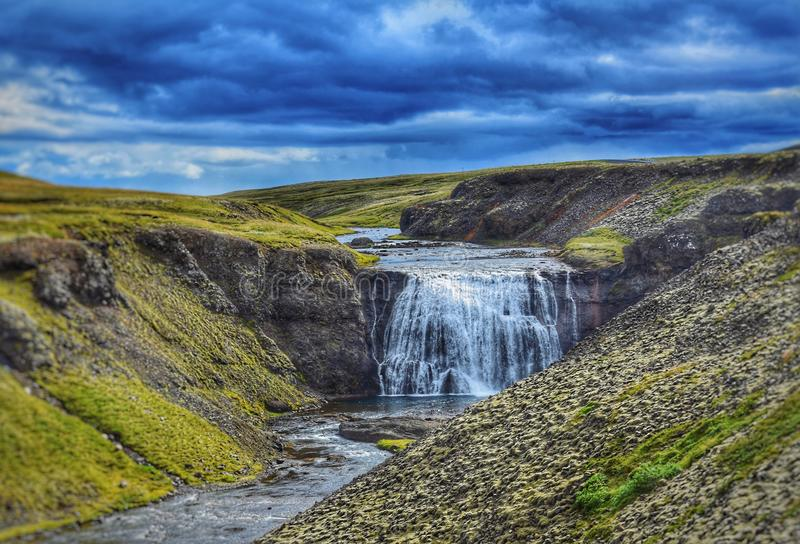 Thorufoss de l'Islande photo libre de droits