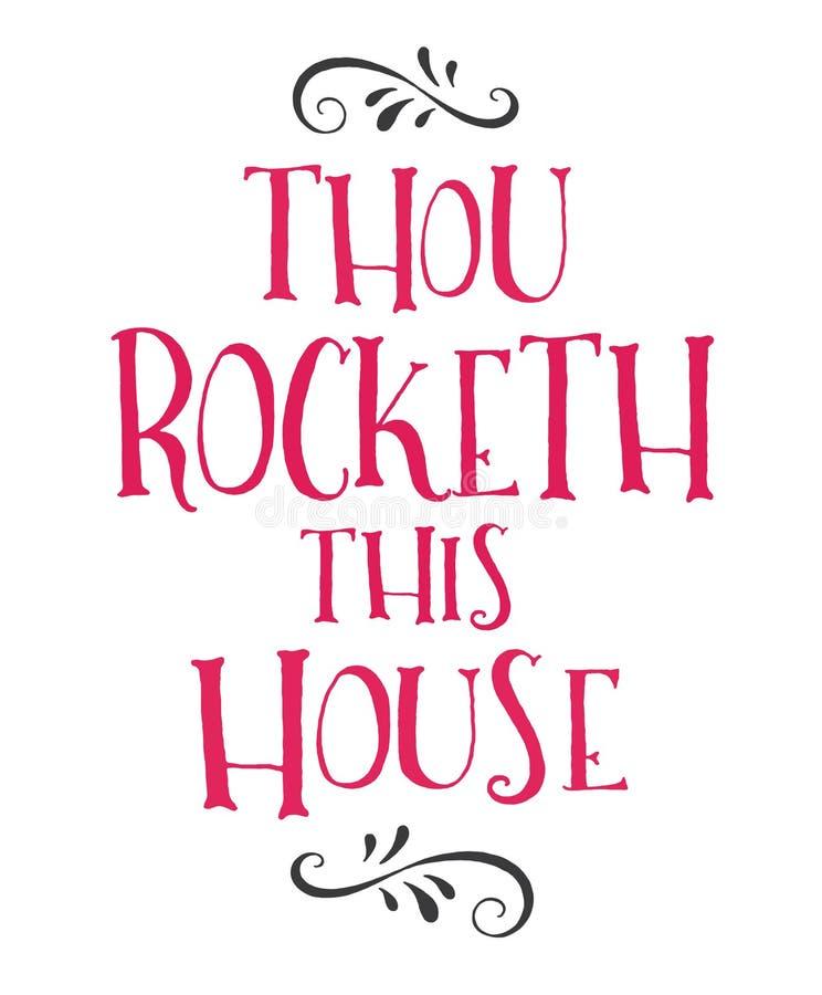 Thou Rocketh Ten dom ilustracja wektor