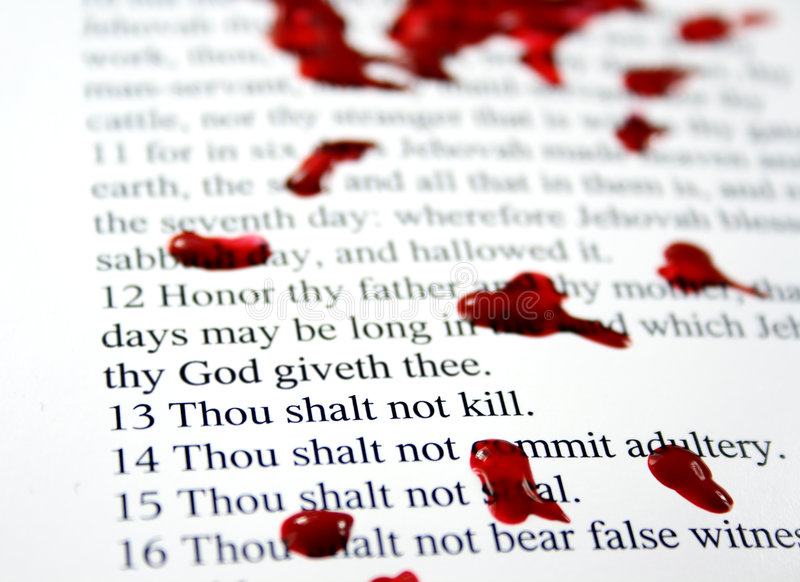 Download Thou shalt no kill stock photo. Image of paper, christian - 4449754