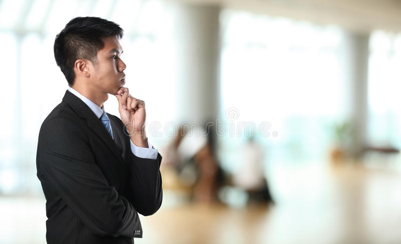 Thoughful Business Man Royalty Free Stock Photography