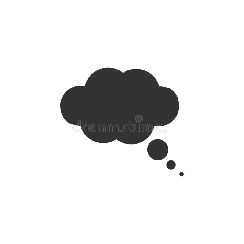 Thought bubble icon flat royalty free illustration