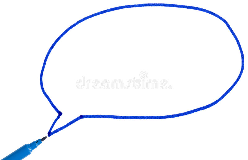 Download Thought Bubble Drawn With Felt Tip Pen. Stock Illustration - Image: 7727864