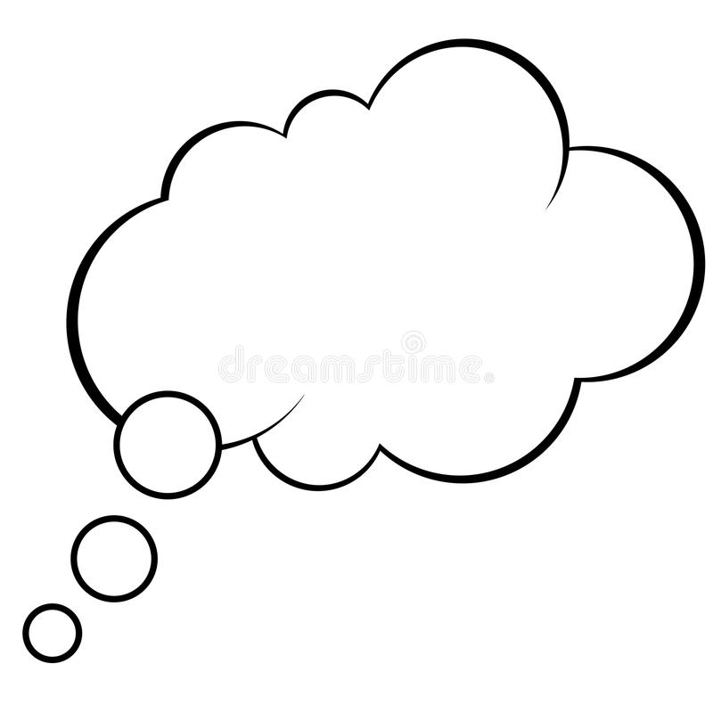Free Thought Comic Bubble Vector Royalty Free Stock Images - 93103139