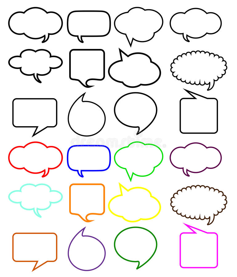 Thought speech bubbles royalty free illustration
