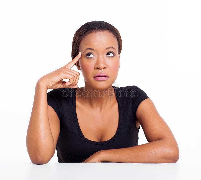 Thoughtful african american stock photos