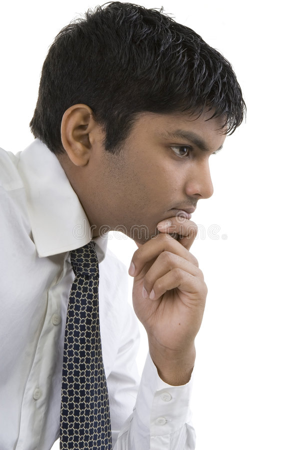 Download Thoughtful Asian Businessman Stock Photo - Image: 5036860