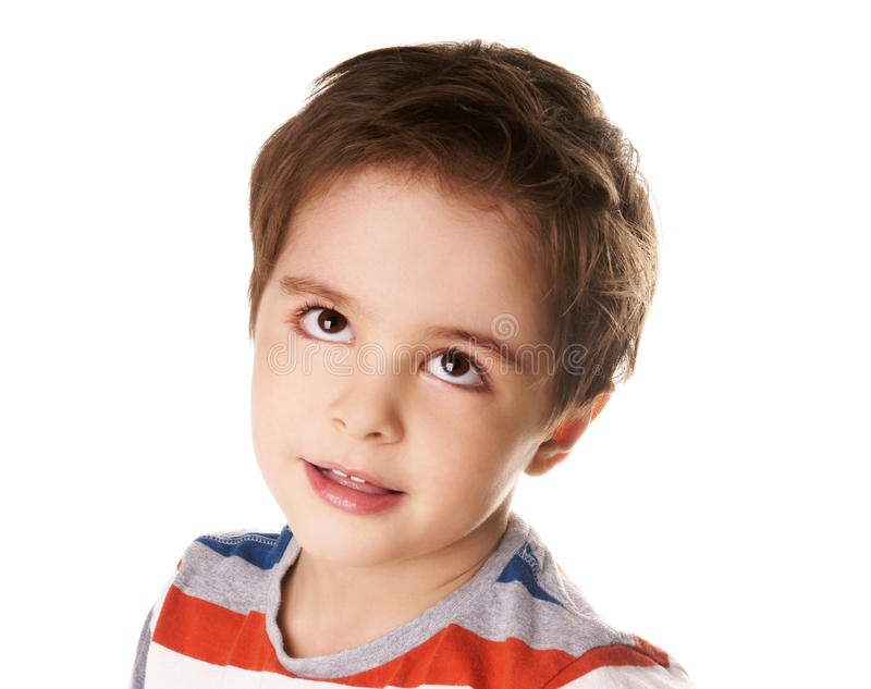 Download Thoughtful boy stock image. Image of eyed, innocence - 18281989
