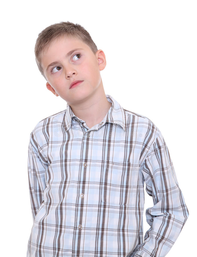 Download Thoughtful boy stock photo. Image of child, youth, recall - 23469334