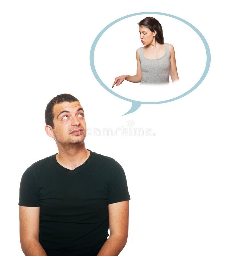 Download Thoughtful boyfriend stock photo. Image of blue, emotion - 25218826