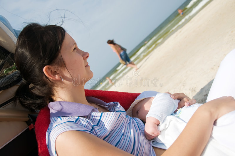 Download Thoughtful breast feeding stock photo. Image of caucasian - 7901090