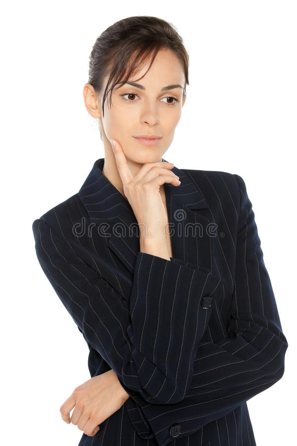 Download Thoughtful business woman stock image. Image of dilemma - 20871073