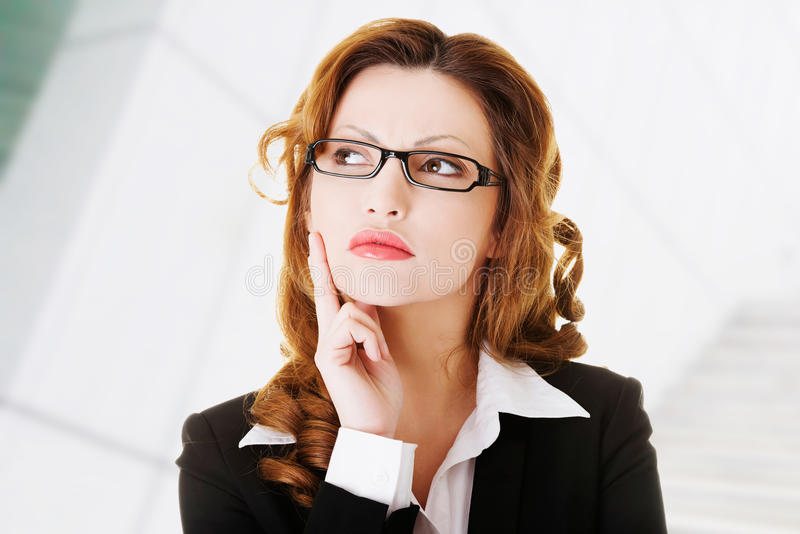 Download Thoughtful business woman stock image. Image of caucasian - 32706437