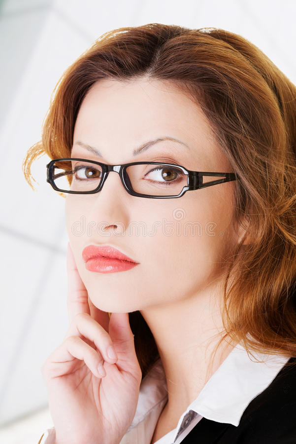 Download Thoughtful Business Woman Stock Photo - Image: 32706440