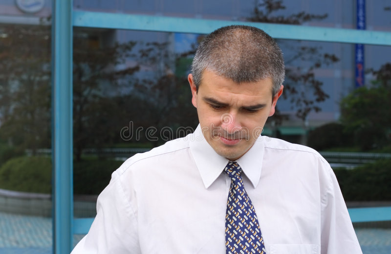 Thoughtful businessman stock photos