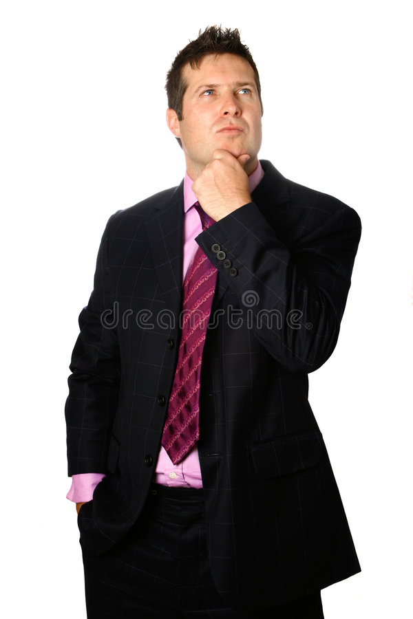 Download Thoughtful businessman stock photo. Image of comfortable - 2829028