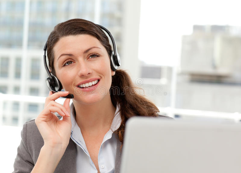 Download Thoughtful Businesswoman Talking On The Phone Royalty Free Stock Photography - Image: 17279197