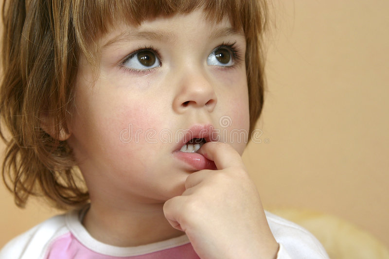 Thoughtful child royalty free stock images