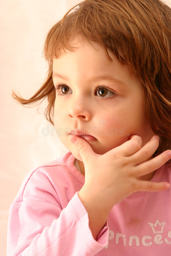 Thoughtful child stock images