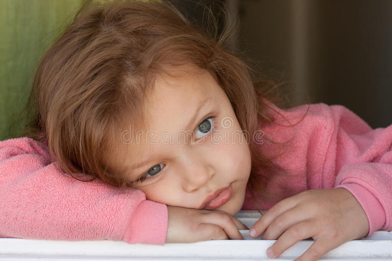 Thoughtful child royalty free stock photo