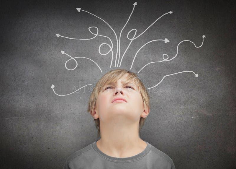 Thoughtful child royalty free illustration