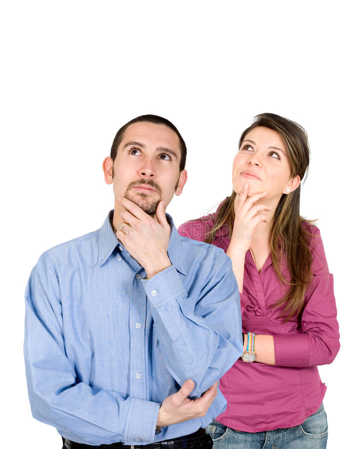 Download Thoughtful couple stock image. Image of woman, person - 10826187