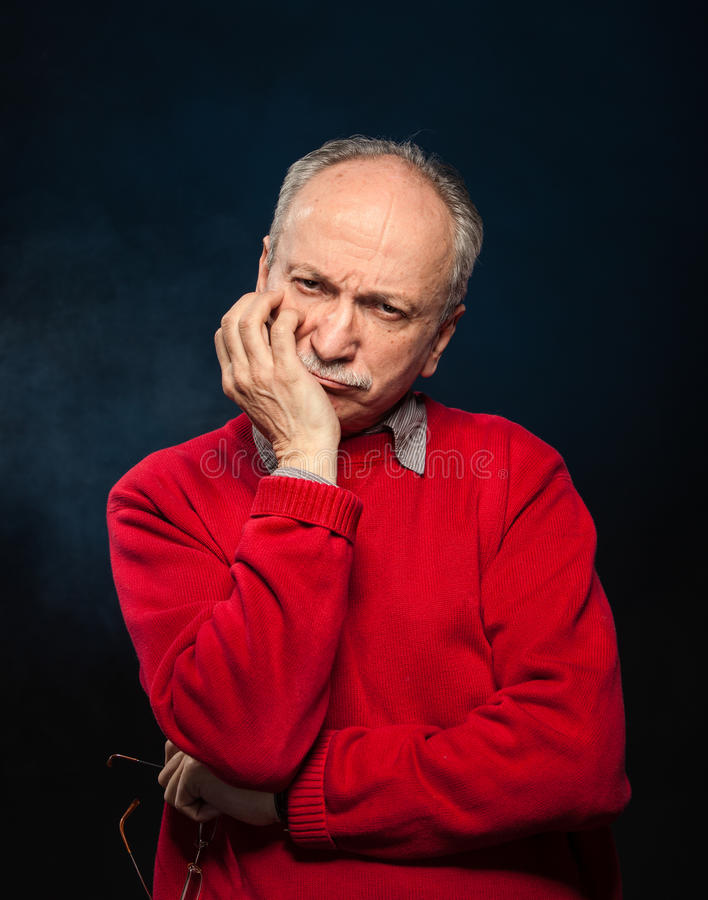 Download Thoughtful elderly man stock photo. Image of caucasian - 28767504