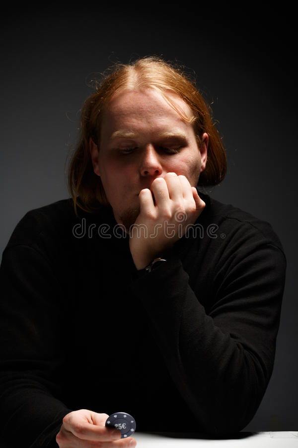 Thoughtful face royalty free stock photos