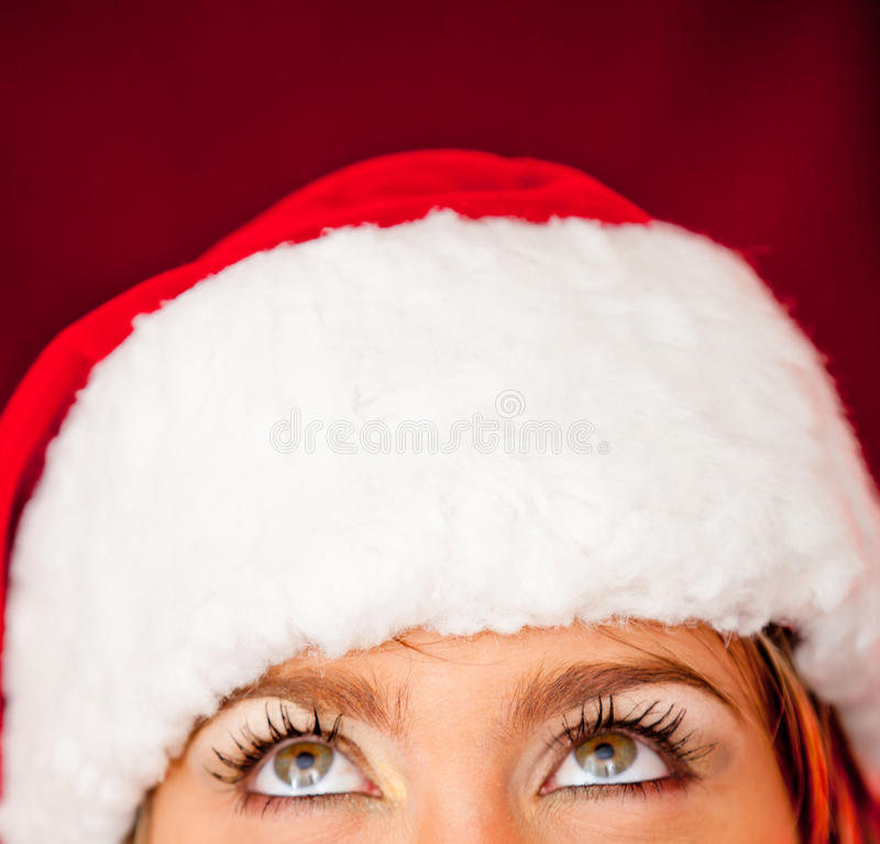 Download Thoughtful female Santa stock photo. Image of sensuality - 22217576