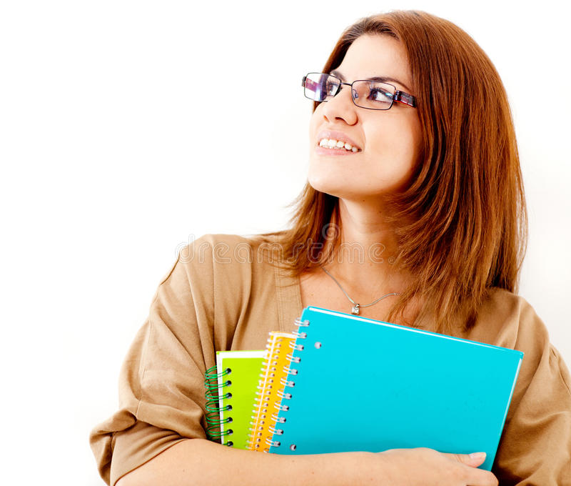 Download Thoughtful female student stock photo. Image of learn - 24772400