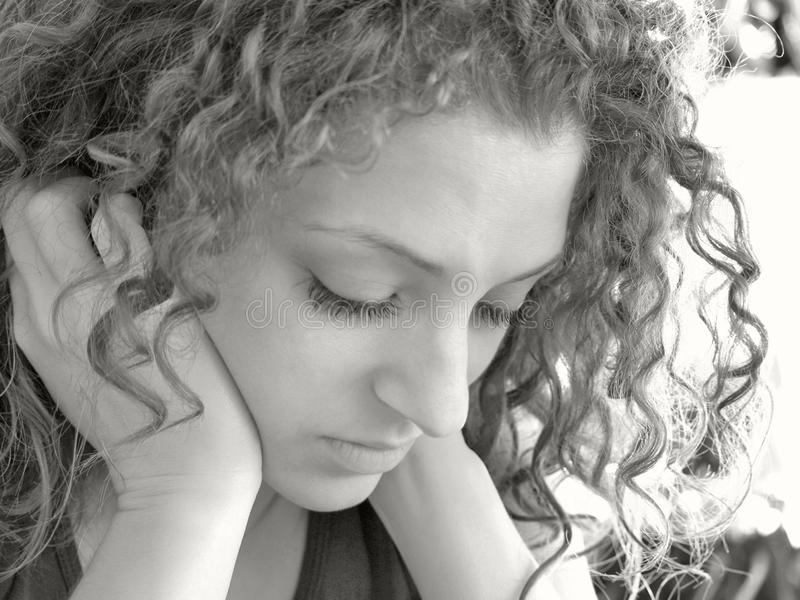 Download Thoughtful girl stock photo. Image of women, hair, thoughtful - 14107936