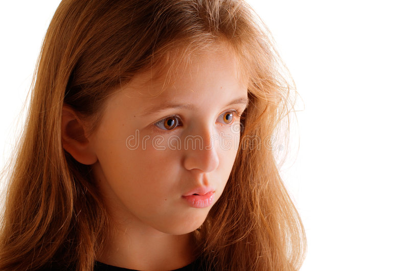 Download Thoughtful Girl Stock Photo - Image: 5335460
