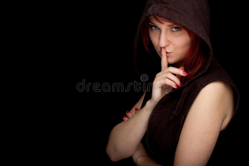 Download Thoughtful Girl From Finger On Mouths, Stock Image - Image: 17832833