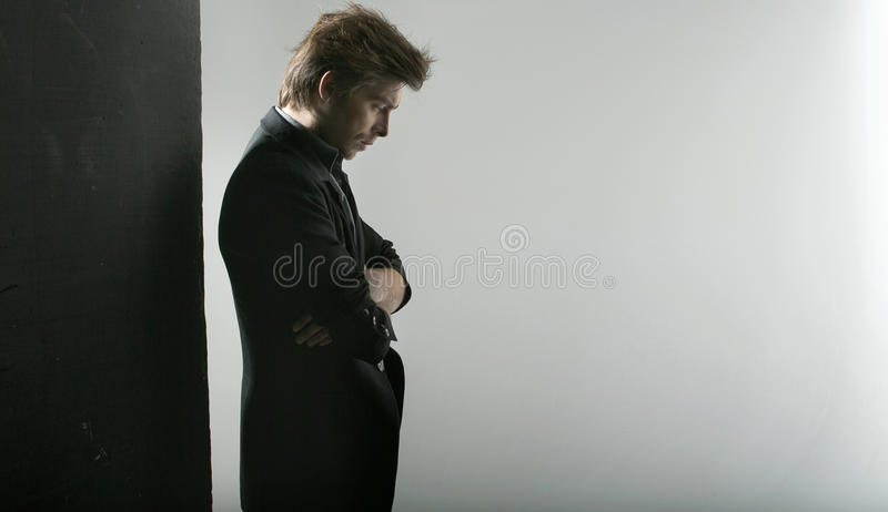 Download Thoughtful Handsome Guy Staring At The Floor Stock Photo - Image: 28864652