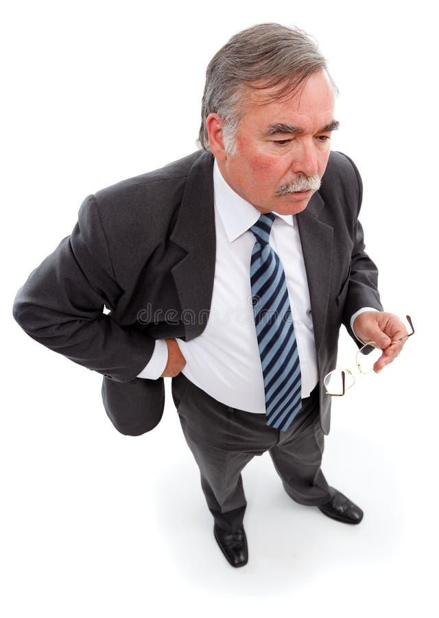 Download Thoughtful man stock photo. Image of caucasian, senior - 16407172
