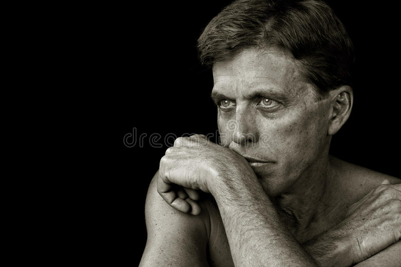 Thoughtful Man stock photography