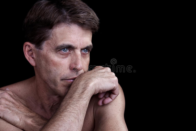 Download Thoughtful Man stock image. Image of white, isolated - 20261679