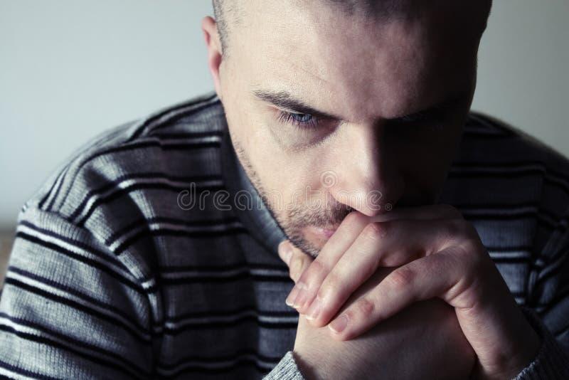 Download Thoughtful man stock image. Image of upset, breakdown - 23156537